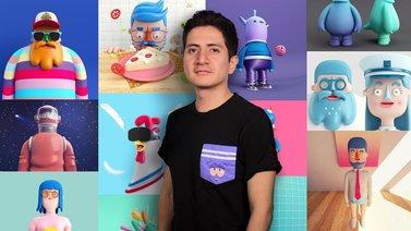 Diseño de personajes en Cinema 4D: del boceto a la impresión 3D. A 3D, and Animation course by Aarón Martínez