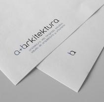 A+B Arkitektura. Un proyecto de Br, ing e Identidad y Diseño gráfico de La caja de tipos  - 11-08-2008