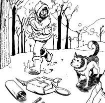 Jack London ilustraciones. A Illustration project by Tomás Morón Aranda - 12-11-2009