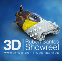 Digital art Showreeel. A Illustration, Motion Graphics, and 3D project by santosdelacalle@gmail.com         - 23.02.2010