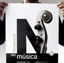 Novembro con Música 08. Un proyecto de Diseño, Ilustración, Publicidad y Fotografía de Gende Estudio - 08-03-2010