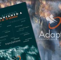 Adapta, logo, catálogo.... Un proyecto de Diseño y Publicidad de nathalie figueroa savidan         - 14.01.2011