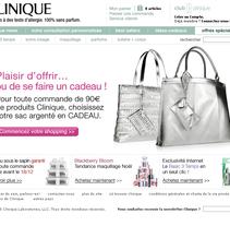 Refresh site Clinique. Um projeto de Design de Laure Chassaing - 27-04-2010