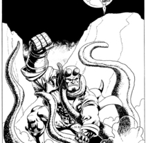 Hellboy. A Illustration project by Tomás Morón Aranda - 02-07-2010