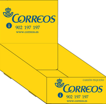 Camiones y expositor-caja para Correos. A Design, Illustration, and Advertising project by Paloma Sánchez - 01-08-2010