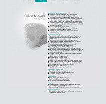 Carla Nicolás web. Un proyecto de Diseño de kid_A - 07-09-2010