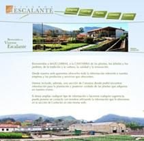 web Viveros Escalante. A Design, and Software Development project by AlenLoop         - 08.09.2010