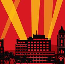 Cartel 14 Festival Cine Málaga - Propuesta. Um projeto de Design de Óscar Labrador Atienza         - 17.11.2010