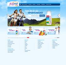 Website Actimel. Un proyecto de Diseño de Leticia Rojo         - 08.05.2011