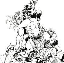 La Furia de Fergus - extraído de los Archivos de Uro. Um projeto de Ilustração de Lopekan ::         - 03.06.2011