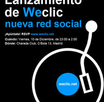 Cartel lanzamiento Weclic. A Design project by Marta García         - 11.07.2011