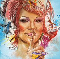 Rihanna, my angel. A Illustration project by Xavier Gironès - Aug 08 2011 10:35 AM