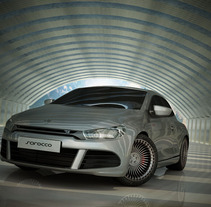 Volkswagen Scirocco 3D. A Design, Installations, and 3D project by Jose Luis  Rioja - 08.16.2011