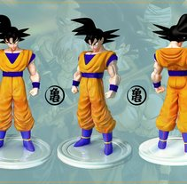 GOKU 3D FIGURA DE RESINA. A Design, Illustration, and 3D project by Jose Luis  Rioja - 09.05.2011