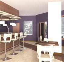 Infografía 3D Cafetería. Un proyecto de Diseño, Instalaciones y 3D de Luis Dedalo - 06-11-2011