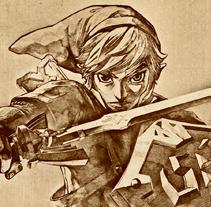 Poster Zelda: Skyward Sword. A Design, and Advertising project by Álvaro Muñoz Gabaldón         - 24.11.2011