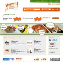 página web de Yamm. Um projeto de Design de Gupo         - 29.12.2011