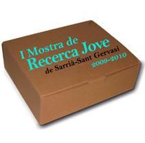 Logo Mostra de Recerca Jove Sarria-St.Gervasi (BCN). Um projeto de Design, Fotografia, Br, ing e Identidade e Design gráfico de Sara Pau         - 03.01.2012