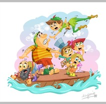 Peter Bontus Pan. A Illustration, Advertising, and Motion Graphics project by eugenia suárez         - 13.01.2012