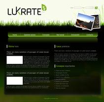 Corporativa y diseño web Lukrate. A Design project by Sergio Sala Garcia         - 26.01.2012