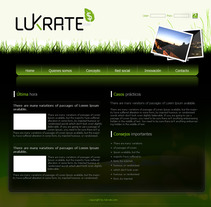 Corporativa y diseño web Lukrate. Um projeto de Design de Sergio Sala Garcia         - 26.01.2012