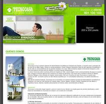 Diseño web Tecnocasa. Um projeto de Design e UI / UX de Sergio Sala Garcia         - 26.01.2012