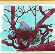el ruiseñor y la rosa dibujo 1. A Illustration project by Iván  Ferrándiz Soler         - 19.02.2012