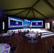 Diseño escenografía Disney Blu Ray. Un proyecto de  de Alvaro Portela Martínez - 12.04.2012