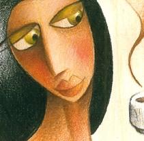 Coffee Lady. Un proyecto de Ilustración de Manuel Crespo - 22-04-2012