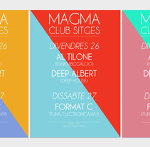 Serie de carteles Magma Club. A Design, Illustration, and Advertising project by Denis Zacaryas - 08-05-2012