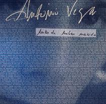 portada ANTONIO VEGA - Antes de haber nacido. Um projeto de Design de Javi G. Espinosa - 03-06-2012