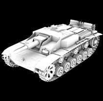 Tanque STUG3. A Design, Film, Video, TV, and 3D project by Ruben Roldan Crespo         - 10.06.2012