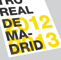 Teatro Real Madrid 2012-2013. A Design, Illustration, Advertising, and UI / UX project by Jorge Ometrico - 15-06-2012