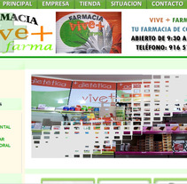 Web Farmacia Vive + Farma. A Design, Illustration, and Software Development project by Ruben  Vargas Martin - 18-06-2012