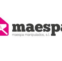 LOGO MAESPA. Un proyecto de Diseño, Publicidad, Instalaciones y 3D de Alex Díaz Álvarez - 25-06-2012