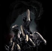 Alien Nest. A Illustration project by Jose Angel Trancón Fernández - 09-07-2012