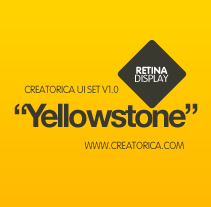 Creatorica UI Set - Yellowstone. A Design, and UI / UX project by Rodolfo Biglie - 10-07-2012