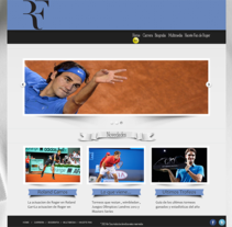 Web Federer. A Design, Illustration, Software Development, Photograph&IT project by Alejandro Cano         - 18.07.2012