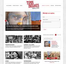 web Tipos Infames. Um projeto de Design e Desenvolvimento de software de María José Arce         - 03.09.2012