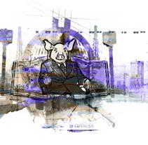 CERDO CAPITALISTA. Un proyecto de Ilustración de Paco Campos Pérez - Lunes, 17 de septiembre de 2012 20:25:30 +0200