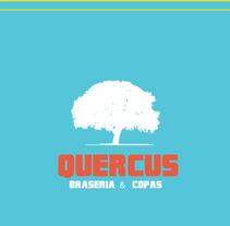 Quercus Brasería. A Design&Illustration project by Manuel Pacheco Cabañas - 04-10-2012