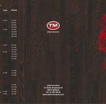 Carta Restaurante Tabernamania. Un proyecto de Diseño, Ilustración y Publicidad de Juan Pedro Garcia Royo         - 30.11.2012