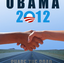 OBAMA Poster. A Design, Illustration, Advertising, Photograph, and UI / UX project by Carolina Rojas Vilos         - 23.12.2012