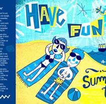 summer. Un proyecto de Diseño e Ilustración de Denise Turu - 25-02-2013