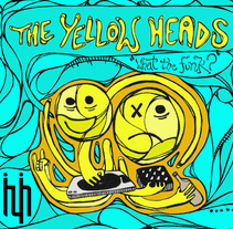 """Portada vinilo """"The Yellow Heads"""". A Design, Illustration, Installations, and Photograph project by ZANART - 20-04-2013"""