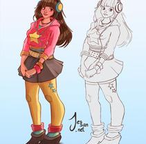 Personajes, Concepts. A Illustration project by Jessica Sánchez         - 21.04.2013
