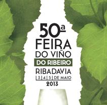 -Propuesta- Cartel Feria del Vino Ribeiro. A Design project by Nuria  - 03-05-2013