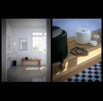 bathroom. A Installations, Photograph, and 3D project by aitor puente espiga - 02-06-2013