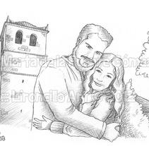 Ilustración para invitación de boda. Um projeto de Ilustração de Marta de la Fuente Gómez - 17-06-2013