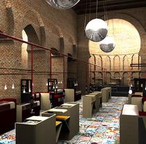 Mercado gastronómico. Un proyecto de Diseño, Instalaciones y 3D de Ana García Alonso         - 26.06.2013